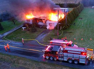 Important incendie de résidence à Wickham
