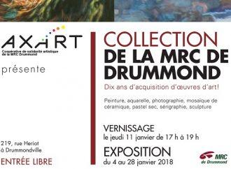 Janvier 2018 – AXART présente les 10 ans d'acquisition des oeuvres d'art de la MRC de Drummond