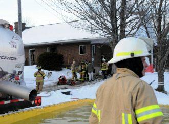 Notre-Dame-du-Bon-Conseil – Dommages limités à une résidence par l'intervention rapide des pompiers