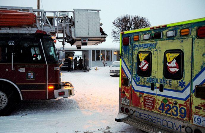 Les services d'urgence de Drummondville évacuent six enfants d'une garderie en milieu familial