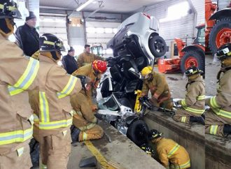 Une surprise attendait les pompiers du Service incendie de Saint-Léonard-d'Aston samedi en matinée