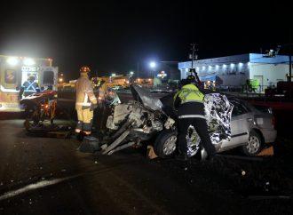 Autoroute 20 – Violente collision entre un véhicule automobile et une camionnette du MTQ