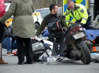 Un adolescent de 15 ans se blesse dans un accident de scooter à Drummondville
