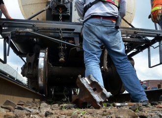 Un bris mécanique force l'arrêt d'un train de marchandise au centre-ville de Drummondville