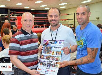 Gala de lutte pour soutenir le «Centre de ressources pour hommes Drummond» entre le député François Choquette et le boxeur Benoit Gaudet