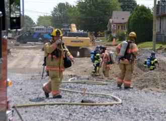 Une importante fuite de gaz naturel sur la rue Cormier