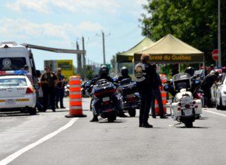 Vaste opération policière sur l'autoroute 20 près de Drummondville vendredi