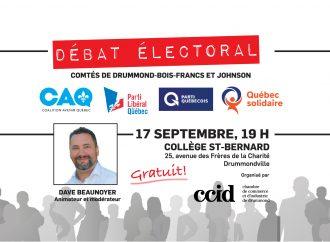 Élections provinciales 2018: La CCID présente l'habituel débat électoral