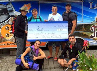 Six personnes marchent 218 kilomètres pour le CEPS – 13 080 $ sont amassés