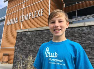 L'équipe «JEUNES ESPOIRS» de Plongeon Québec sélectionne Léon Jacques du Club de plongeon de Drummondville