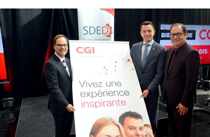 Transformation numérique et innovation: 300 emplois créés en haute technologie-CGI s'implante à Drummondville