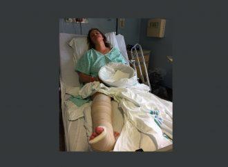 Une «nuit d'horreur» devient un véritable cauchemar et elle se retrouve à l'hôpital