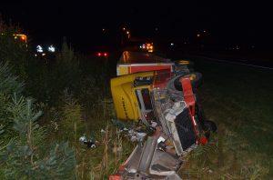 Le conducteur d'un poids lourd s'endort sur l'autoroute 20 à Notre-Dame-du-Bon-Conseil