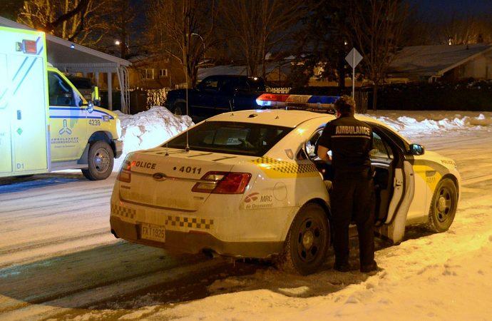 Opération policière sur la 17e avenue à Drummondville