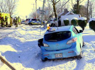 Accident majeur sur la 122 à Saint-Edmond-de-Grantham