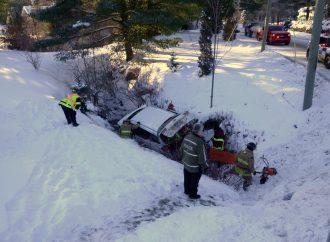 Accident à Saint-Lucien dans le 9e rang et Route des Rivières