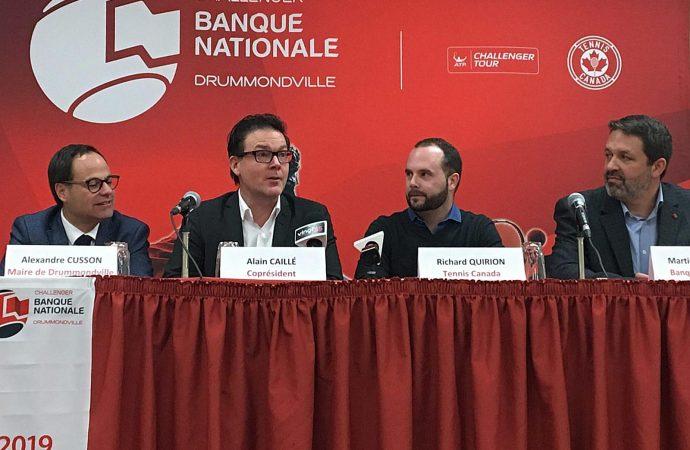 Le Challenger Banque Nationale de Drummondville sera un événement «ATP Challenger 80» en 2019