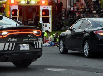 Un cycliste sportif transporté à l'hôpital après une violente collision à Drummondville