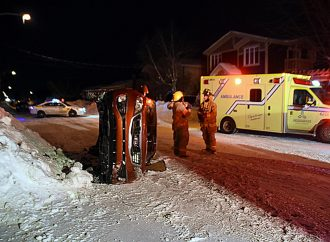 Un accident inusité dans un quartier résidentiel de Drummondville