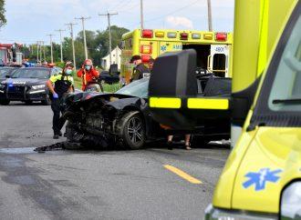 Cinq personnes blessées dans un face à face sur la 255 près de Drummondville