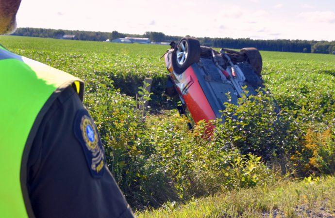 Accident mortel près de Drummondville, le fuyard arrêté