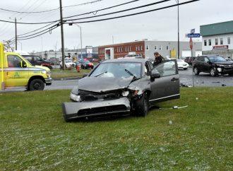 Un accident a fait un blessé sur le boulevard Lemire ce matin