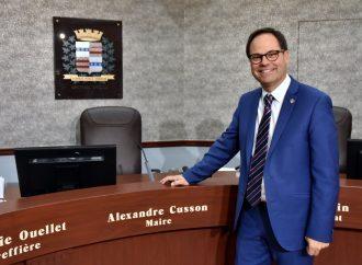 Élection du comité exécutif de l'UMQ – Alexandre Cusson, maire de Drummondville, reconduit à la présidence de l'Union