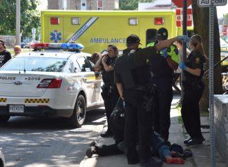 Altercation à l'arme blanche rue St-Jean à Drummondville