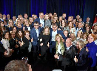 Jessica Ebacher accueillait Andrew Scheer, chef Conservateur, qui terminait sa tournée québécoise à Drummondville