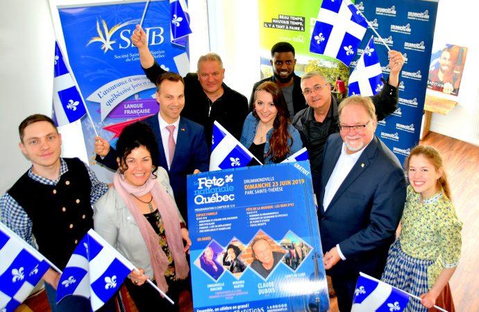 La Fête nationale du Québec à Drummondville une fête à ne pas manquer avec Claude Dubois et des gens d'ici !