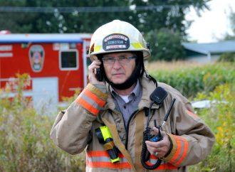 Gilles Pinard, directeur du Service incendie de Saint-Germain-de-Grantham, sonne l'heure de la retraite