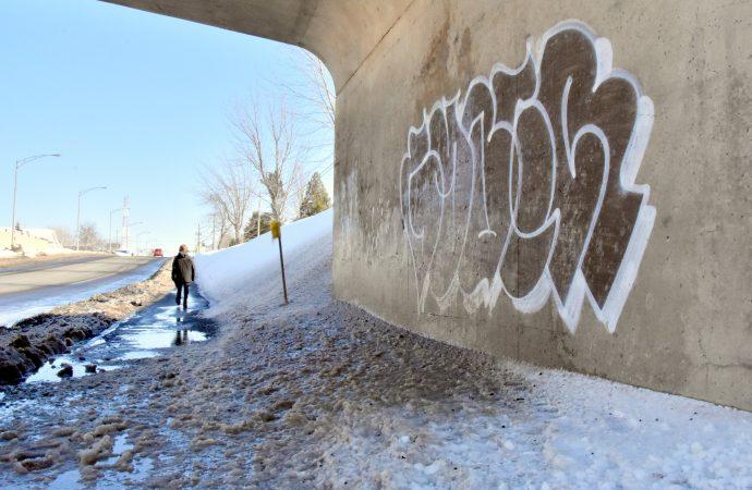 Vague de graffitis à Drummondville, la Sûreté du Québec a procédé à l'arrestation d'un suspect