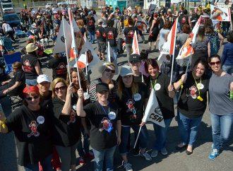 Les éducateurs et éducatrices des CPE du Centre-du-Québec et de la Maurice ont manifesté leurs mécontentements