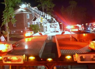 Incendie dans le secteur Saint-Charles-de-Drummond