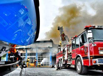 Drummondville Marine complètement détruit par un incendie majeur
