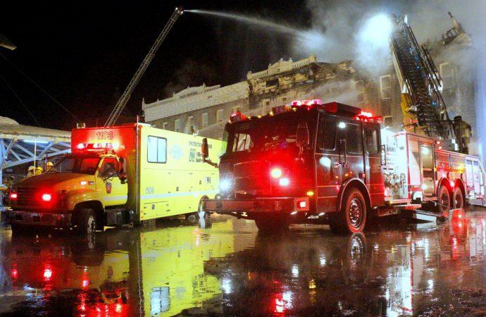 Les pompiers de Drummondville en assistance à Saint-Hyacinthe pour un incendie majeur