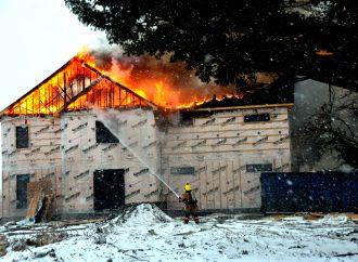 Une résidence est la proie des flammes à Saint-Majorique-de-Grantham.
