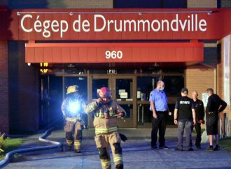 Intervention des pompiers de Drummondville au Cégep de Drummondville