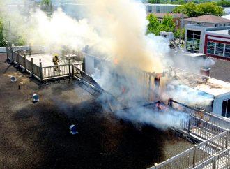 Incendie majeur au centre-ville de Drummondville