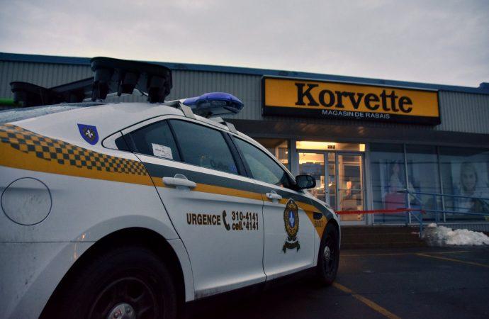 Introduction par effraction au commerce Korvette à Notre-Dame-du-Bon-Conseil