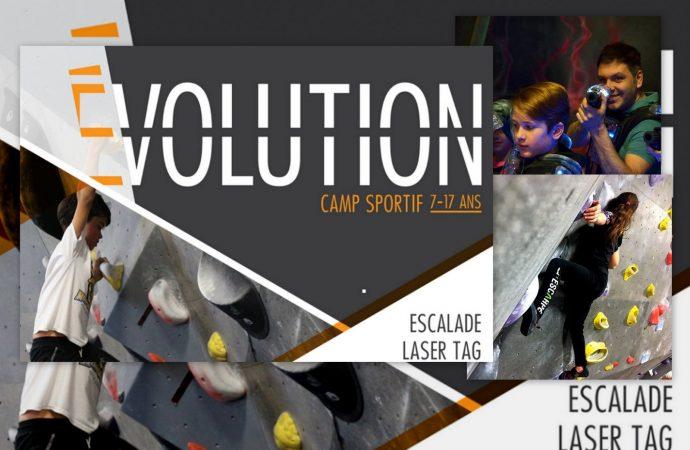 """Un nouveau camp d'été à Drummondville, le """"Camp Évolution"""" du centre Laser Force et l'Escarpé escalade de bloc"""
