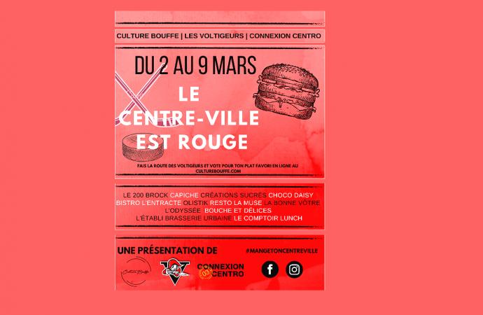 Le centre-ville de Drummondville sera Rouge à la semaine de relâche
