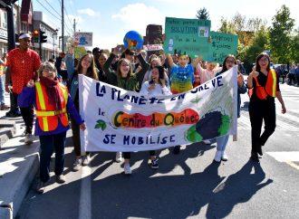 Marche pour le climat, une participation record à Drummondville pour le mouvement planétaire.