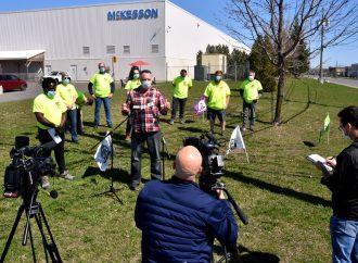 Écart salarial et lenteur dans les négociations ''du mépris inacceptable'' dénonce les travailleurs de McKesson de Drummondville