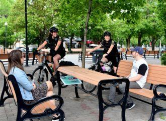 Les patrouilleurs à vélo de la Sûreté du Québec du poste de la MRC de Drummond, une équipe efficace présente tout l'été à Drummondville