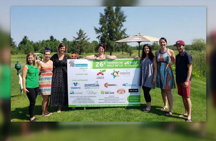 Tournoi de golf 2019 de la MRC de Drummond : une impressionnante récolte de 33 000 $ pour soutenir la cause des P'tites boîtes à lunch