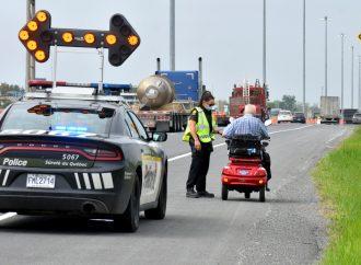 Un conducteur intercepté sur l'autoroute 20 au volant d'un …triporteur