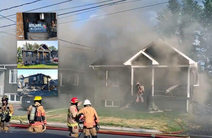 Un incendie a complètement détruit une résidence de la rue du Tressot à Drummondville