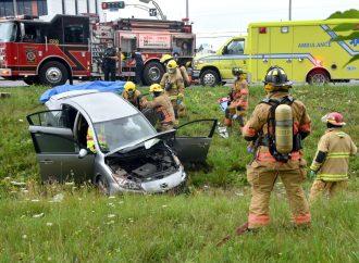Une conductrice blessée dans un accident sur le boulevard Lemire à Drummondville