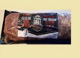 Avis de rappel d'aliments (Allergène)-Rappel de Filet de porc poivre suprême de marque Noble Grill Premium